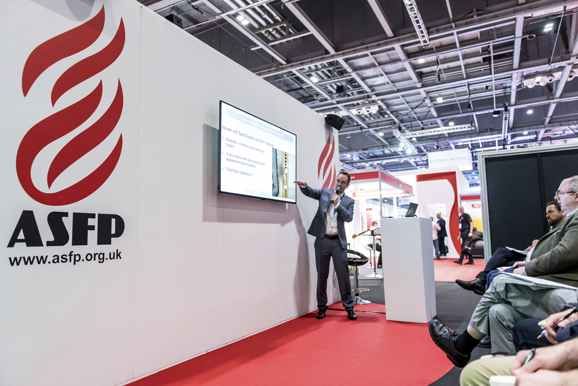 An engaging seminar at the ASFP stand at FIREX 2019